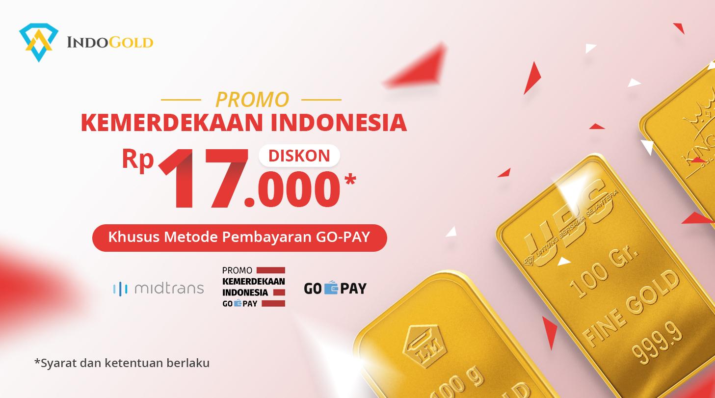 Promo Kemerdekaan Indonesia With Go Pay Beli Logam Mulia Cek Voucher Belanja Antam 6 Gram