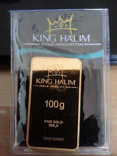 Logam Mulia King Halim 100gr