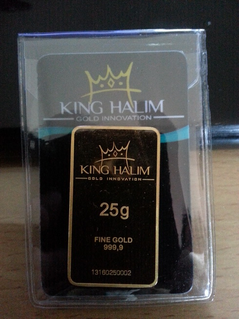 Logam Mulia King Halim 25gr