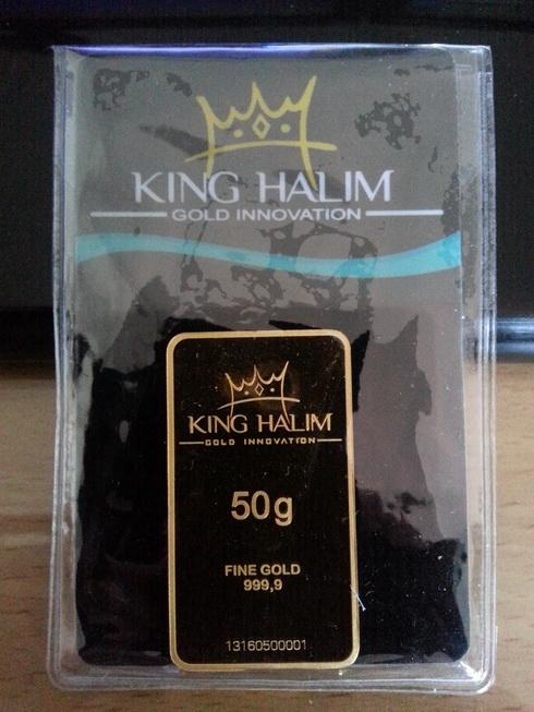 Logam Mulia King Halim 50gr