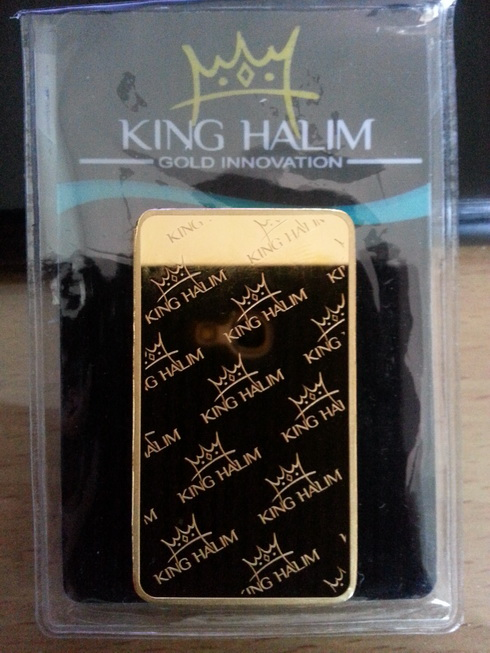 Logam Mulia King Halim Back Side